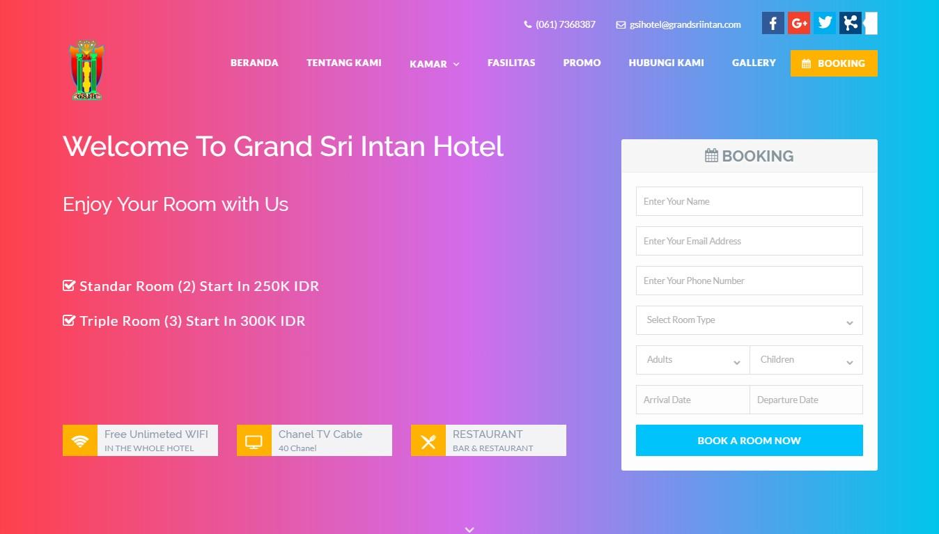 Website Grand Sri Intan Hotel image