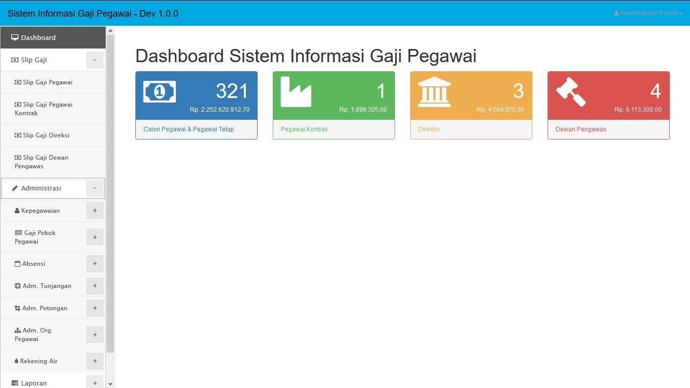 Sistem Informasi Penggajian  image