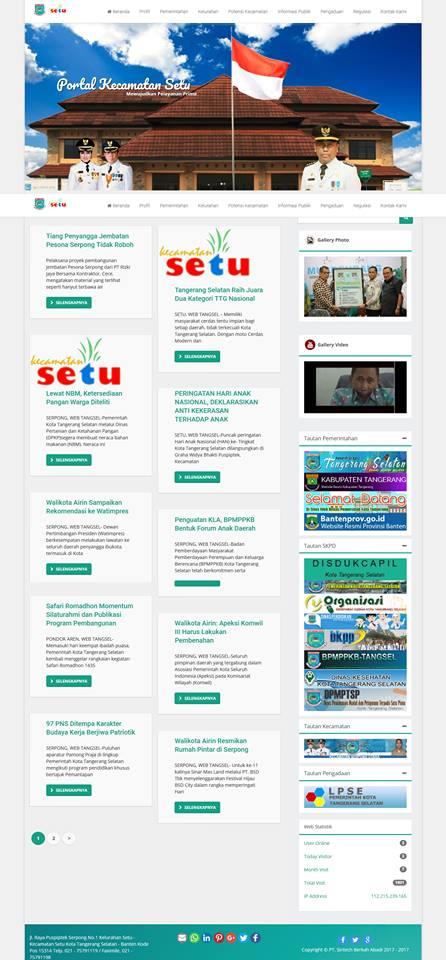 Website Portal Kecamatan Setu Kota Tangerang Selatan image